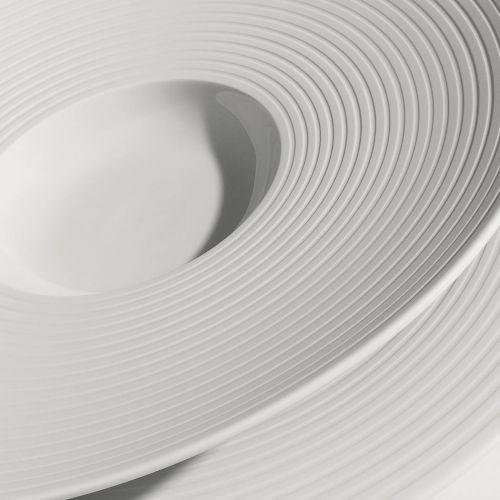 Hering Berlin, Serie 'Pulse', Coupeteller groß, feine Streifen, 310 mm