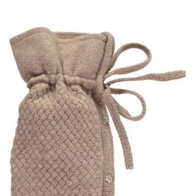 YuYu Wärmflasche, Chelsea Cable Kit 100 % Kaschmir, Farbe camel