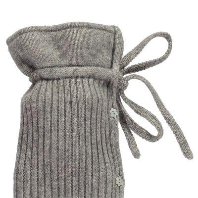 YuYu Wärmflasche, Maifair Cable Kit 100 % Kaschmir, Farbe stone