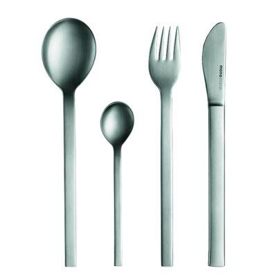 mono-a Besteck Set, 4tlg. mit Messer kurze Klinge, Edelstahl