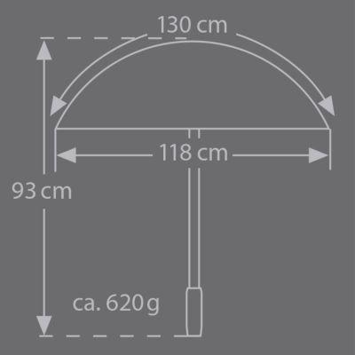 Brilliant Luxus Herren Stockschirm HM 85, 10-teilig, schwarzes hochwertiges Edelpolyestergewebe, Griff aus Akazienholz