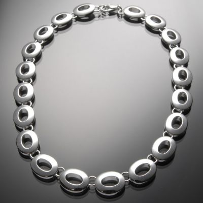 Grosse Jewels, Collier 'Tulpe', 925 Silber