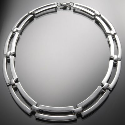 Grosse Jewels, Collier 'Track', 925 Silber