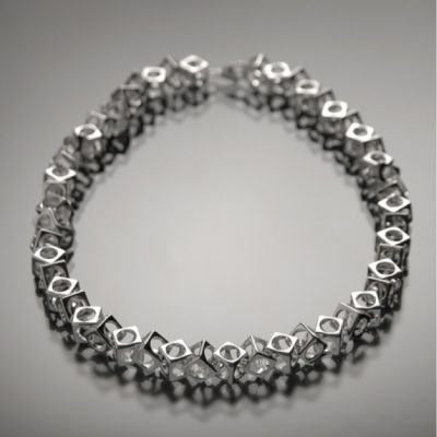 Grosse Jewels, 'Würfelcollier', 925 Silber