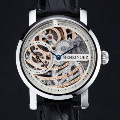 Jochen Benzinger, 3/4 Skelett Rose Engine, Herrenarmbanduhr