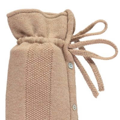 YuYu Wärmflasche Belgravia, 30 % Kaschmir, 70 % Merinowolle, Farbe sand