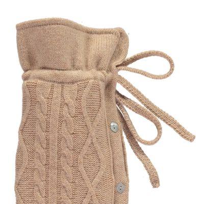 YuYu Wärmflasche Kensington, 30 % Kaschmir, 70 % Merinowolle, Farbe sand