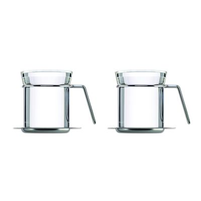mono Ellipse, Teetasse, 2er Set mit Untertasse