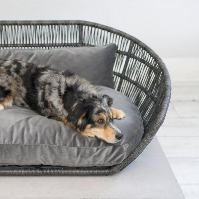 Laboni, Hundebett 'Prado', Indoor, Bezug: anthrazit