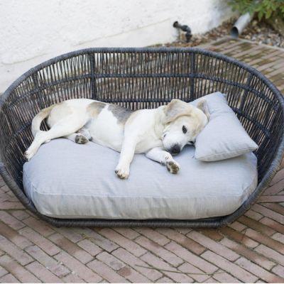 Laboni, Hundebett 'Prado', Outdoor, Bezug: grigio