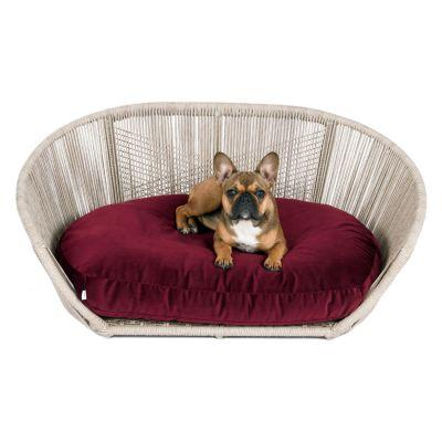 Laboni, Hundebett 'Vogue', Indoor, Bezug: burgundy