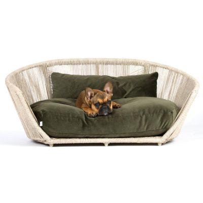 Laboni, Hundebett 'Vogue', Indoor, Bezug: olive green