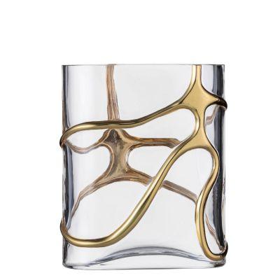 Eisch, Serie Stargate, Vase 439/22, Gold