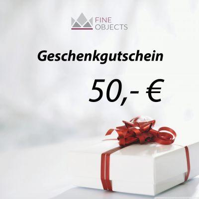 Fine Objects Geschenkgutschein Wert 50,00 €