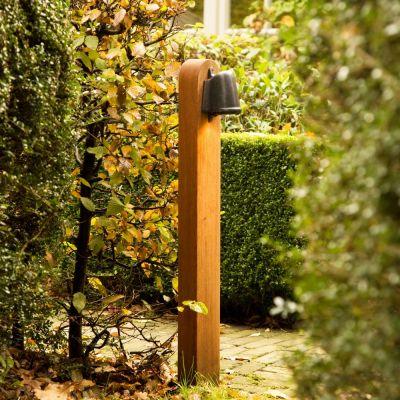 Authentage, Lampenserie 'Balume', Außenleuchte 'Wooden Pole', Massivholzsockel, verschiedene Ausführungen