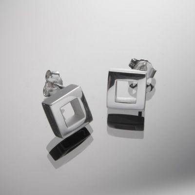 Grosse Jewels, Ohrstecker 'kleine Rauten I', 925 Silber