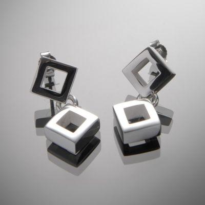 Grosse Jewels, Ohrstecker 'kleine Rauten II', 925 Silber