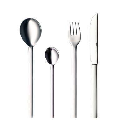 mono-a Besteck Set, 24tlg. mit Messer lange Klinge, Edelstahl hochglanz brilliant poliert