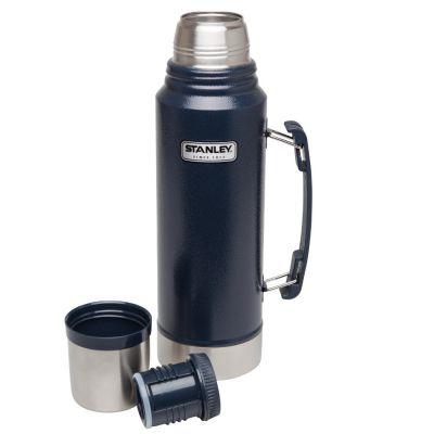 Stanley, Thermosflasche classic, Edelstahl, 1 Liter, navy blau mit Tragegriff
