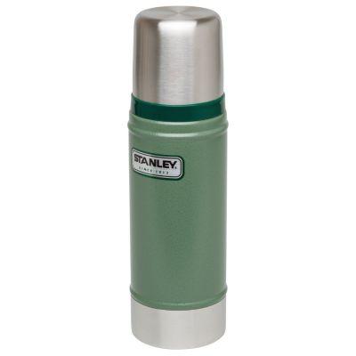 Stanley, Thermosflasche classic, Edelstahl, 470 ml, Hammerschlag grün