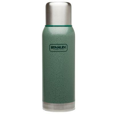 Stanley, Thermosflasche Adventure, Edelstahl, 1 Liter, Hammerschlag grün