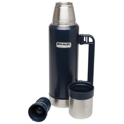 Stanley, Thermosflasche Classic, Edelstahl, 1,3 Liter, navy blau mit Tragegriff