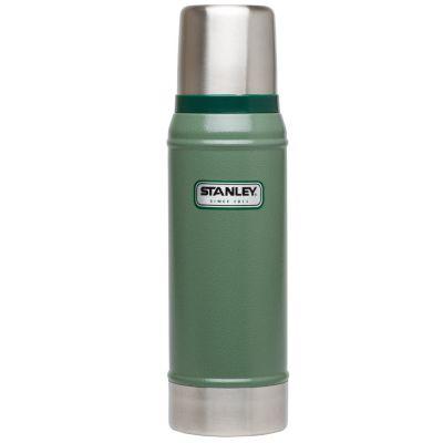Stanley, Thermosflasche Classic, Edelstahl, 0,750 Liter, Hammerschlag grün