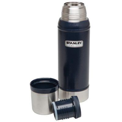Stanley, Thermosflasche Classic, Edelstahl, 0,750 Liter, navy blau