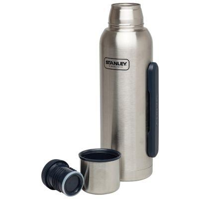 Stanley, Thermosflasche Adventure, Edelstahl gebürstet, 1,3 Liter mit Tragegriff