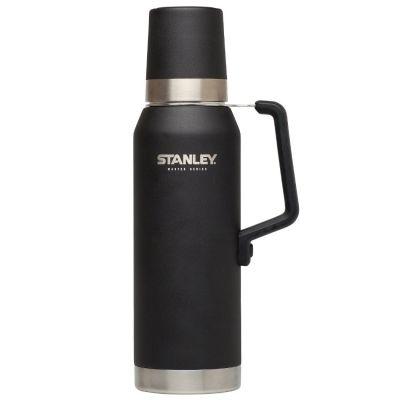 Stanley, Thermosflasche Master, Quad Vac, 1,3 Liter, matt schwarz mit Tragegriff