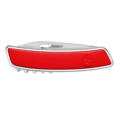 Swiza D03 Leder, Schweizer Luxus Taschenmesser, Griffschale Leder rot