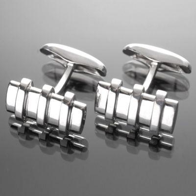 Grosse Jewels, Manschettenknöpfe 'Belt Lock', 925 Silber