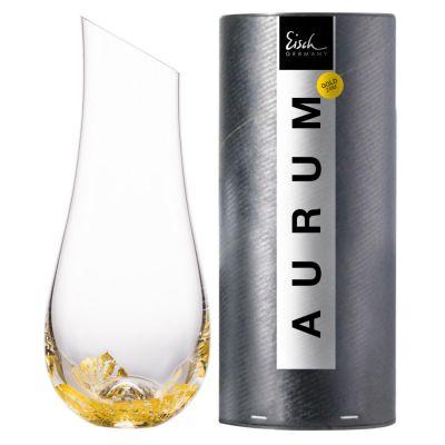 Eisch, Serie Aurum, Karaffe 793/1.0 ND mit 24 Karat Blattgold, in Geschenkröhre