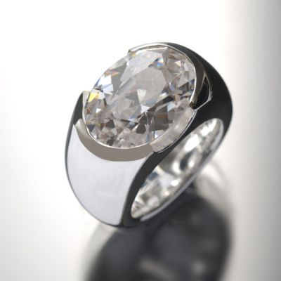 Grosse Jewels, Ring 'Roma', 925 Silber