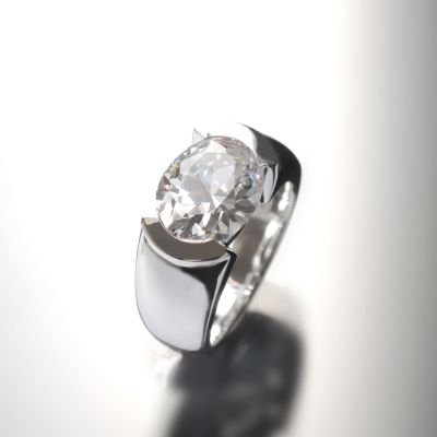 Grosse Jewels, Ring 'Little Italy', 925 Silber mit Bergkristal