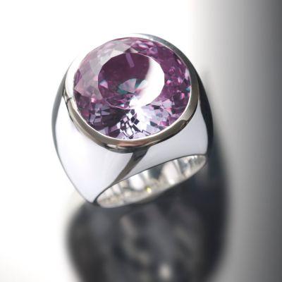 Grosse Jewels, Ring 'Lavendel Lissabon', 925 Silber, Amethyst, Lavendel