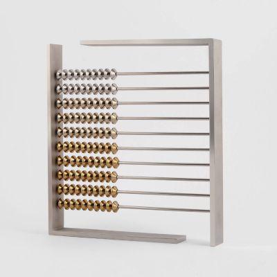 VAU, Modell 'Abacus', Zählrahmen Messing versilbert