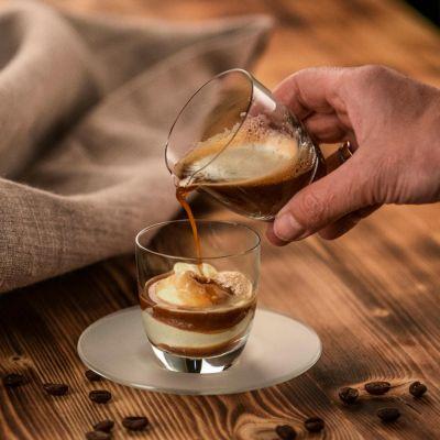 Eisch, Set Affogato al caffe, Glas und Kännchen in Geschenkröhre