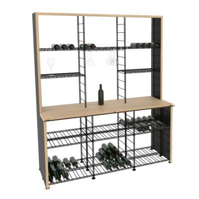 L'Atelier du Vin, hochwertiges Weinbuffet in 3 Breiten und 2 verschiedenen Arbeitsplatten