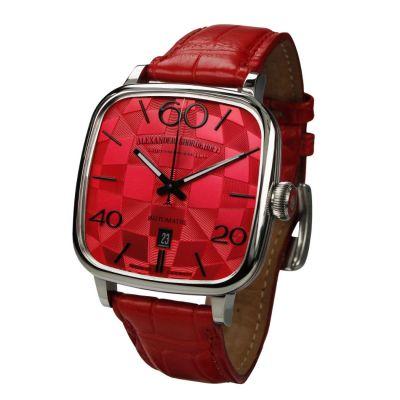 Alexander Shorokhoff, Modell Kandy rot , Automatik Damen Luxusuhr