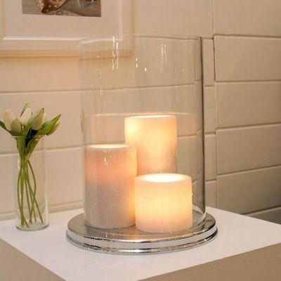 Authentage, Lampenserie 'Bellefeu', Tischleuchte 'Bouquet round 3L', 3 verschiedene Oberflächen