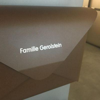 Dwenger Design Manufaktur, Beschriftung für Briefkasten 'briefwunder'