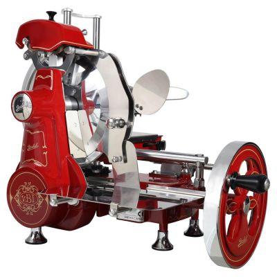 Berkel Aufschnittmaschine mit Schwungrad, Volano B2, Farbe rot