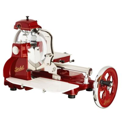 Berkel Aufschnittmaschine mit Schwungrad, Volano B3, Farbe rot