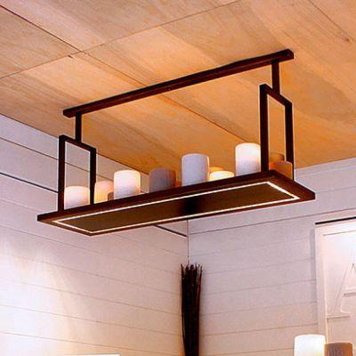 Authentage, Lampenserie 'Bellefeu', Hängeleuchte 'Rectangular, 4 Größen, Ausführung bronze oder weiß