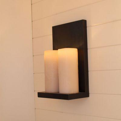 Authentage, Lampenserie 'Bellefeu', Wandlampe '2 L Candle', 2 Lichtausführungen, Oberfläche bronze, verchromt oder weiß