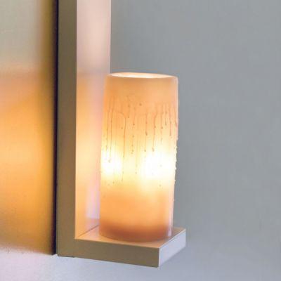 Authentage, Lampenserie 'Bellefeu', Wandlampe '1 L Candle', 2 Lichtausführungen, Oberfläche bronze, verchromt oder weiß