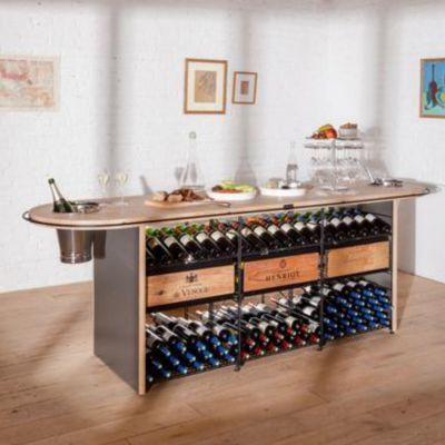 L'Atelier du Vin, hochwertiger Schank- und Präsentationstisch