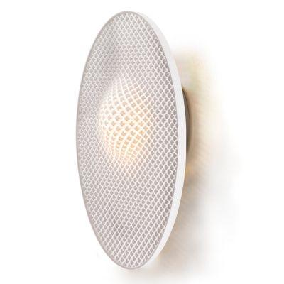 Cozi, Wandlampe, Modell 'Focus Wall Light - white Elipse', weißes 3D-gedrucktes Nylongewebe