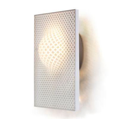 Cozi, Wandlampe, Modell 'Focus Wall Light - white Rectagnle', weißes 3D-gedrucktes Nylongewebe